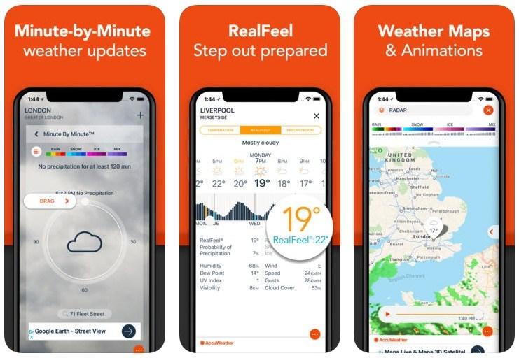 5 de las mejores aplicaciones meteorológicas para tu iPhone
