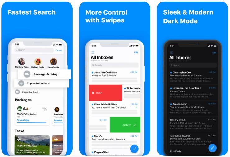 5 Mejores aplicaciones de Mail para iPhone y iPad (Alternativas a las aplicaciones de Mail)