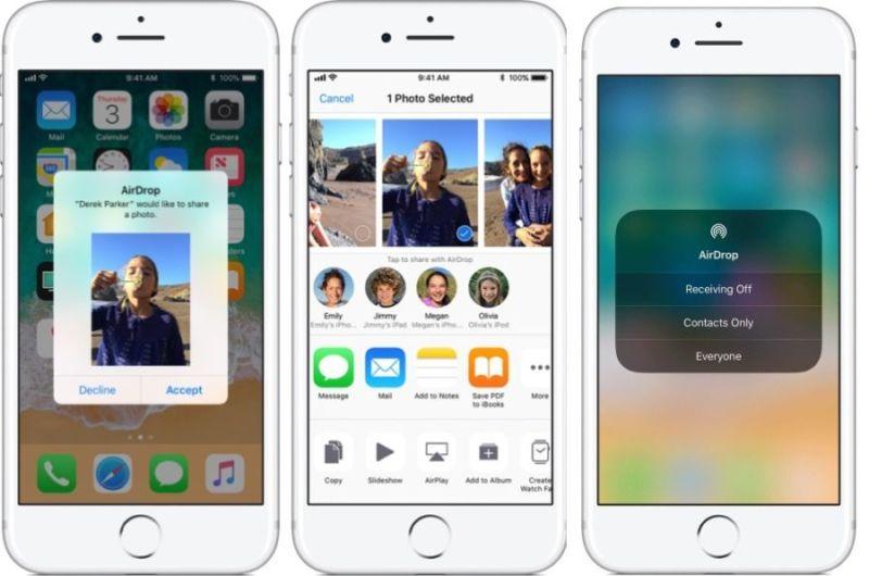 AirDrop para iOS 11: Aquí tienes todo lo que puedes compartir desde tu iPhone y tu iPad