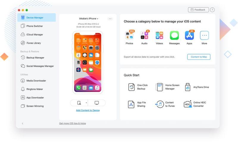 AnyTrans 8 hace que la transferencia de datos entre el iPhone antiguo y el iPhone 11 A Breeze