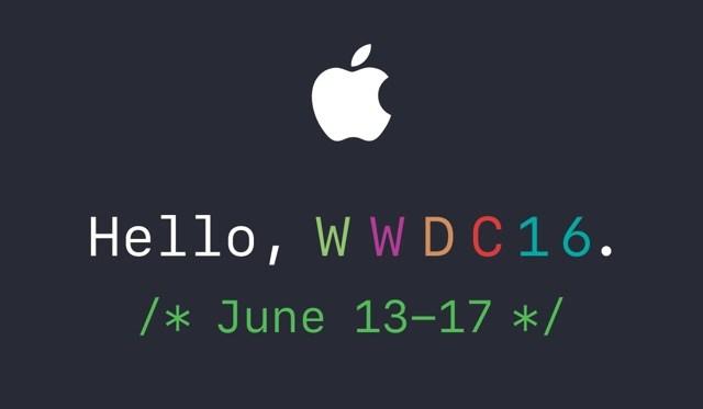 Apple invita a la prensa a la conferencia magistral de WWDC 2016 programada para el 13 de junio