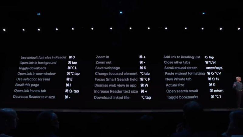 Atajos de teclado de iPadOS muy útiles para Safari