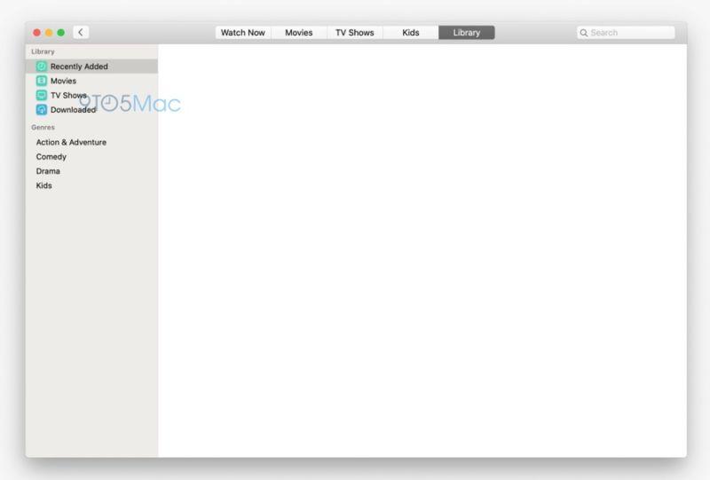 Capturas de pantalla filtradas revelan aplicaciones de música y TV para Mac