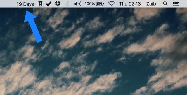 Cómo añadir una cuenta atrás minimalista a la barra de estado de Mac