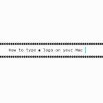 Cómo escribir el logotipo de Apple en el Mac, iPhone o iPad