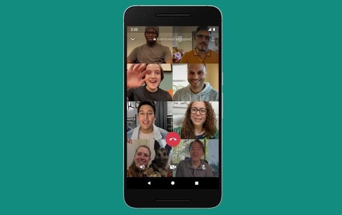 Cómo realizar videollamadas de WhatsApp con 8 personas