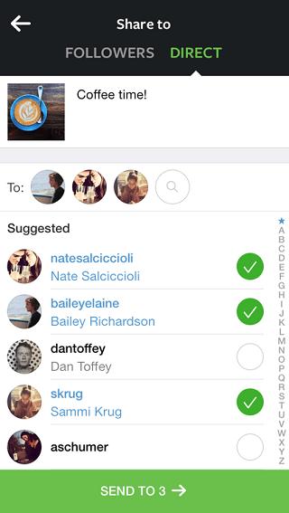 Comparta fotos y vídeos en privado con sus amigos usando Instagram Direct