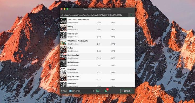 Descarga canciones de Spotify en macOS con TunesKit Mac Music Converter para Spotify