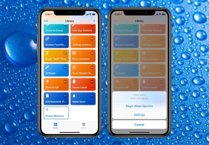 El atajo Siri para expulsar agua te permite expulsar agua de la parrilla de altavoces del iPhone.
