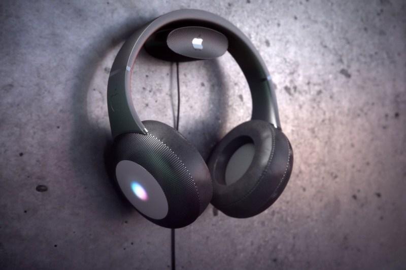 El concepto nos muestra los auriculares de Apple inspirados en HomePod con pantalla y carga inalámbrica