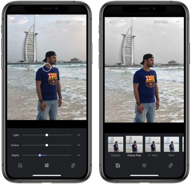 Google Photos For iOS ahora ofrece edición de efectos en profundidad, incluso en los iPhones más antiguos