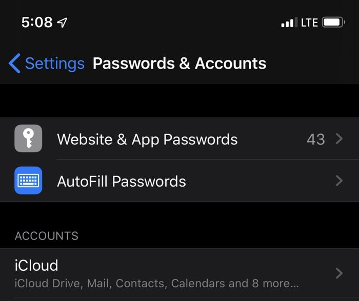 iOS 13 Beta Bug da acceso no autorizado a contraseñas y cuentas