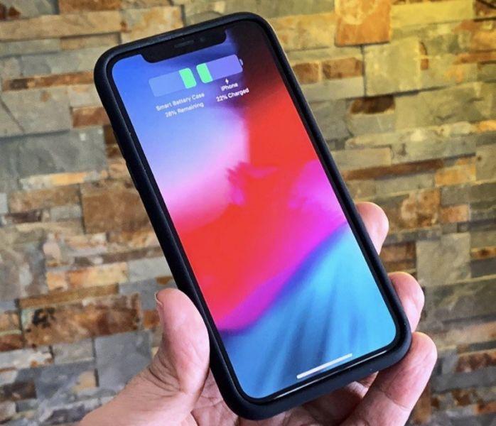 La funda de la batería inteligente para iPhone XS de Apple funciona con el iPhone X