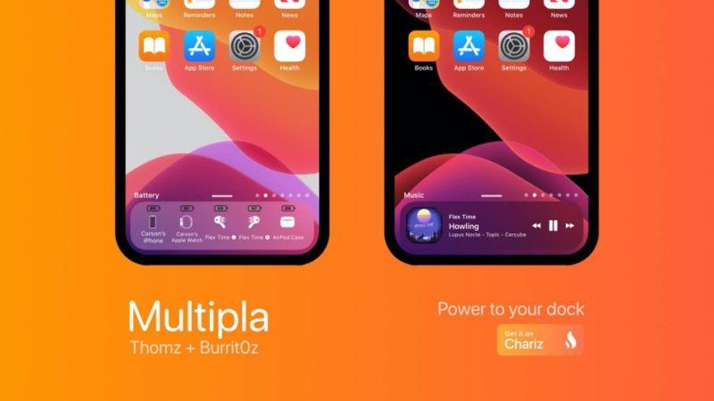 Multipla Tweak lleva widgets a la base de iconos del iPhone