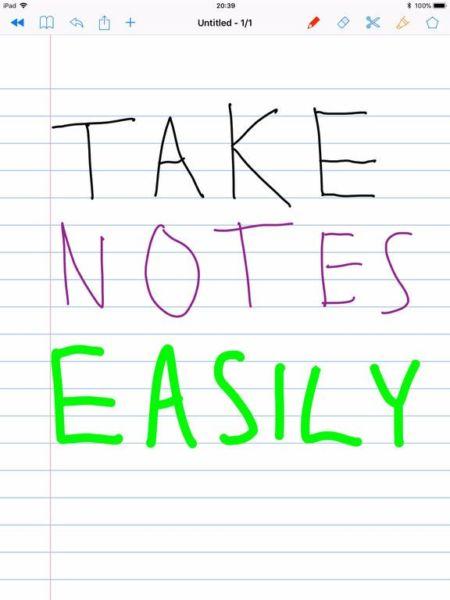 SchoolNotes for Apple Pencil es una gran aplicación para tomar notas para los usuarios de Apple Pencil