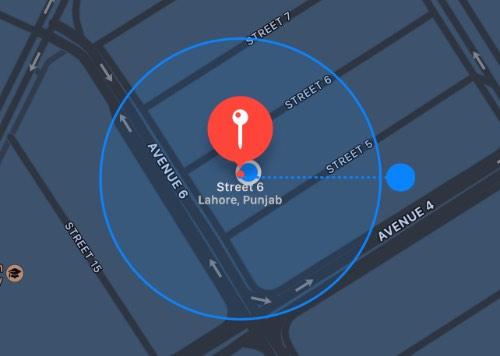 Cómo añadir excepciones de ubicación para la función de notificar cuando se deja atrás