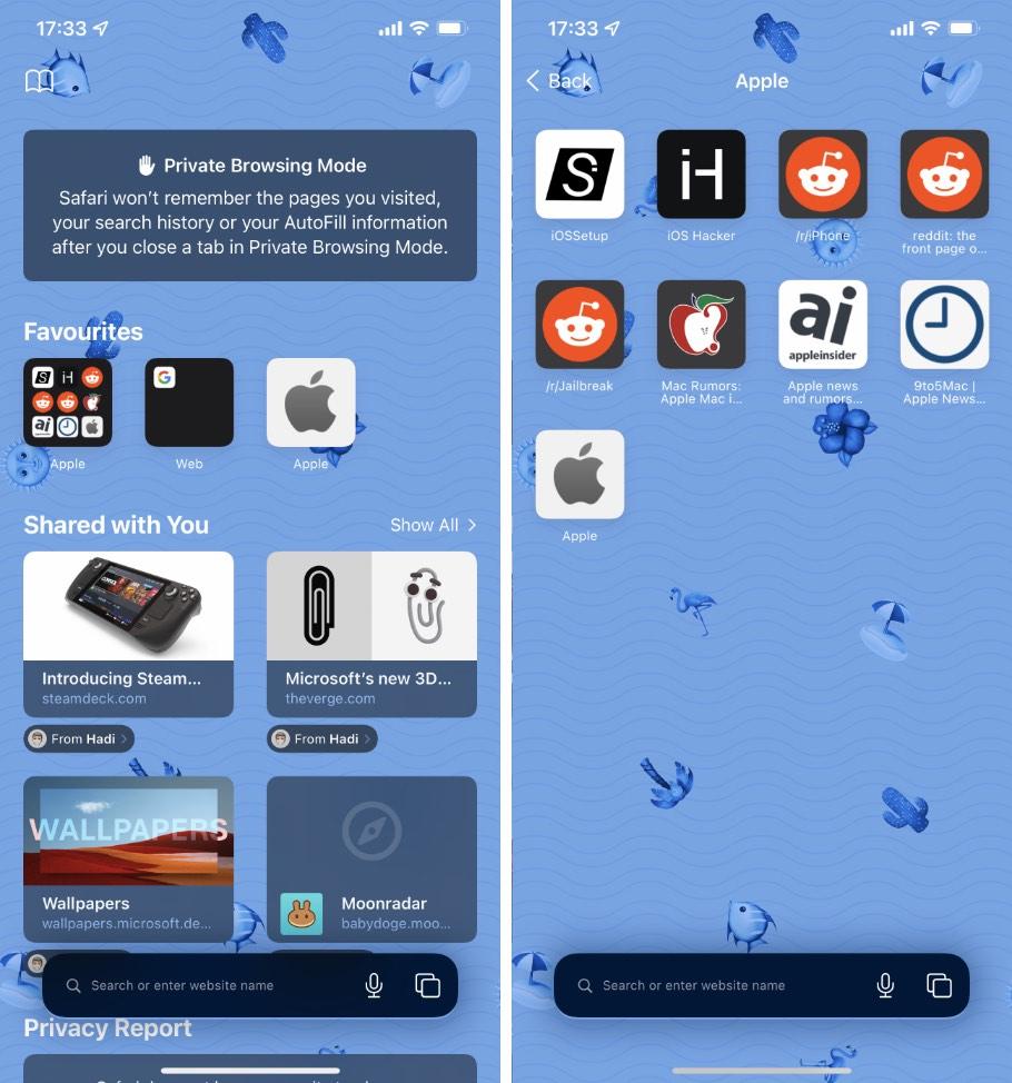 Cómo crear carpetas de favoritos en Safari para iPhone, iPad y Mac