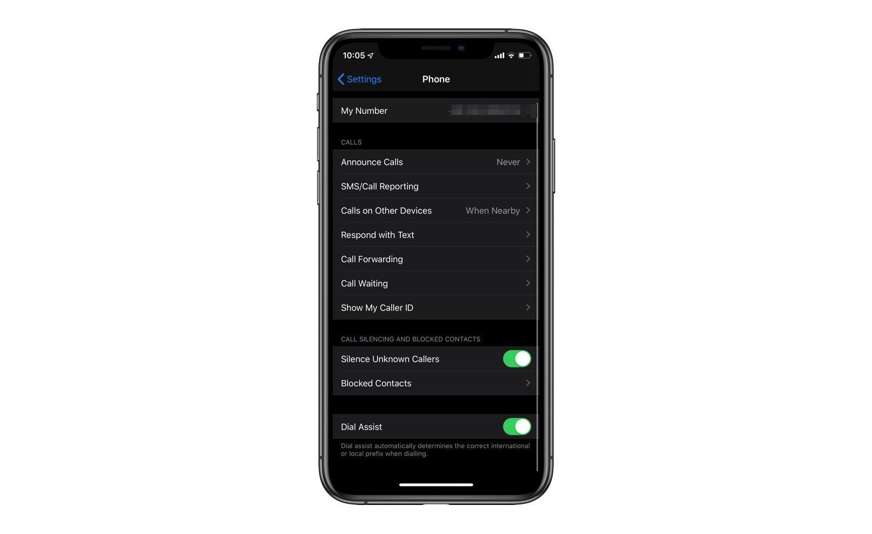 Cómo activar o desactivar la función de silencio de llamadas desconocidas en el iPhone