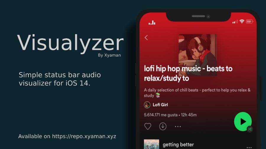 Visualyzer Tweak añade un visualizador de audio a la barra de estado del iPhone