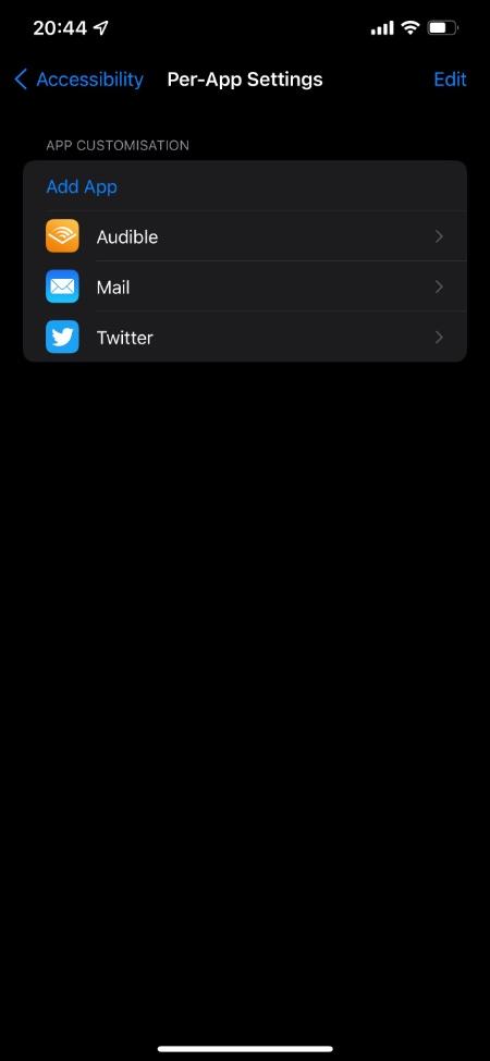 Cómo personalizar la configuración de la pantalla y el texto por aplicación