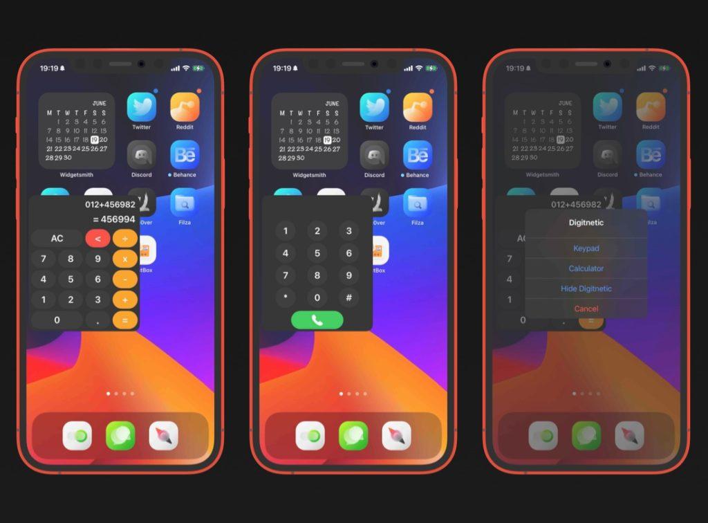 Digitnetic Tweak añade una calculadora flotante o un teclado telefónico a tu iPhone