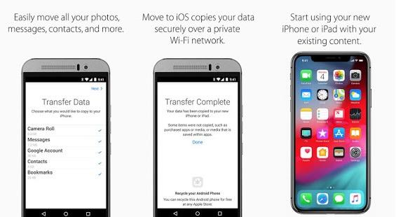 Mover a iOS transferirá más contenido de Android a iOS pronto