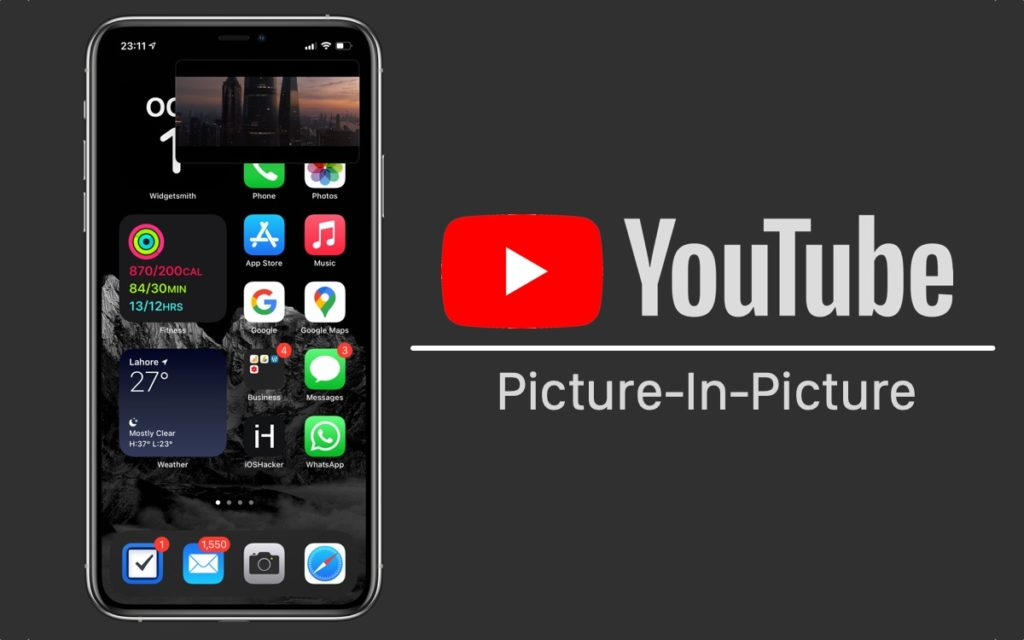 La aplicación de YouTube finalmente gana soporte para el modo PiP de iOS, requiere Premium por ahora