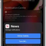 Activar o desactivar la función de notificaciones en silencio en iOS 14