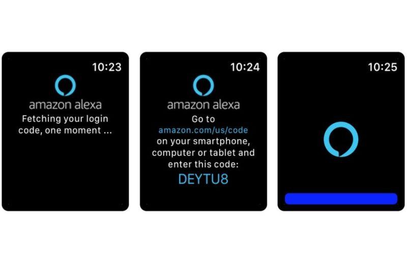 Utilice Alexa de su reloj de Apple con la voz en una aplicación de lata